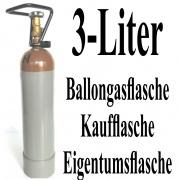 Helium-Mehrweg-Flasche mit 3 Liter Heliumgas, inklusive Helium-Füllventil