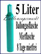 Helium-Ballongas Mehrweg-Flasche mit 5 Liter Heliumgas