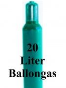Helium Füllung 20 Liter Ballongas Flasche