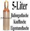 Helium-Mehrweg-Flasche mit 5 Liter Heliumgas, inklusive Füllventil