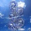 Konfetti-Luftballons, 30 cm, Blau, 5 Stück