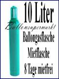 Helium-Ballongas Mehrweg-Flasche mit 10 Liter Heliumgas