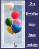 Heliumfüllung für 125 cm Herzluftballons