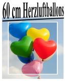 Heliumfüllung für 60 cm Herzluftballons