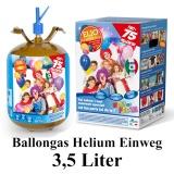 Ballongas Einwegflasche, 3,5 Liter Helium
