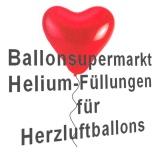 Heliumfüllung für 30 bis 33 cm Herzluftballons
