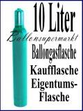 Heliumflasche mit 10 Liter Ballongas, Eigentum, Kaufflasche