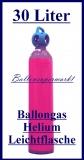 Ballongas-Helium Leichtstahlflasche, 30 Liter, Inklusive Abholung