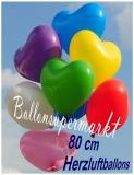Heliumfüllung für 80 cm Herzluftballons